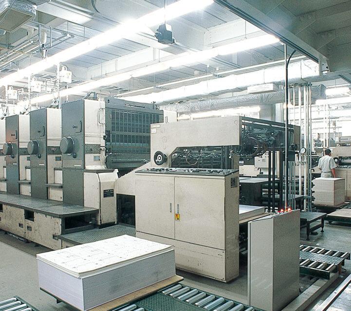 46全判オフセット4色印刷機