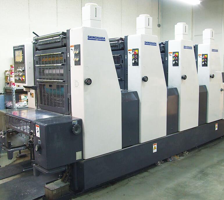 オフセットベビー4色印刷機